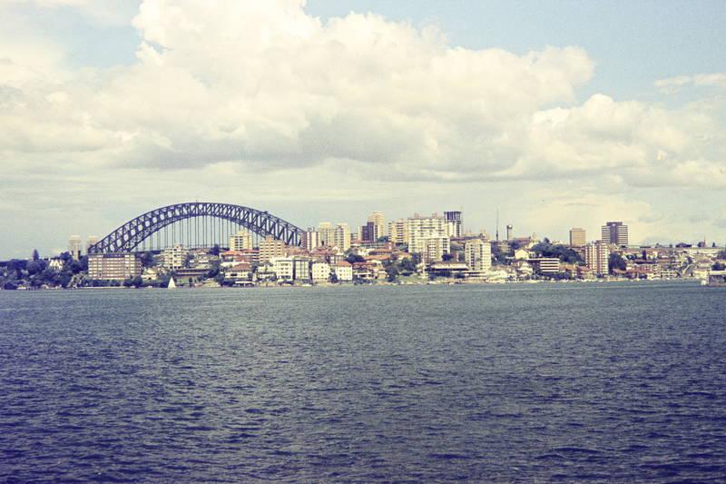 Ausblick, Aussicht, brücke, Großstadt, haus, Kirribilli, Sydney Harbour Bridge
