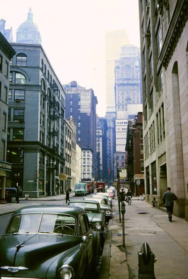 auto, Hochhaus, KFZ, new york, Passant, PKW, Stadtschlucht, straße