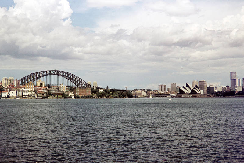 Ausblick, Aussicht, brücke, Großstadt, haus, Sydney Harbour Bridge, Sydney Opera House