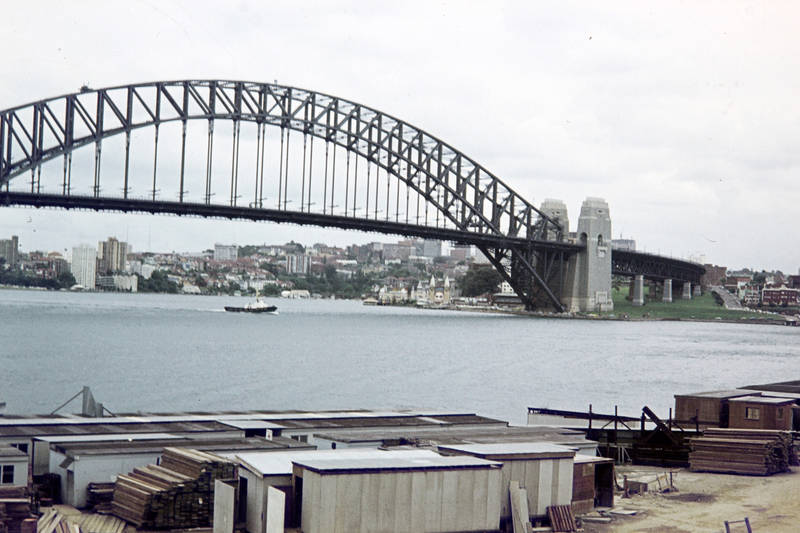 Ausblick, Aussicht, brücke, Großstadt, haus, Sydney Harbour Bridge
