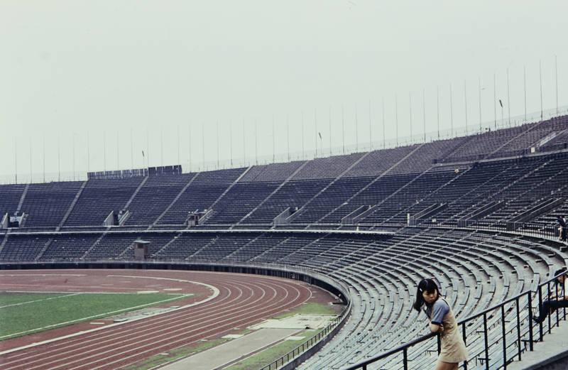 Laufbahn, sitzen, sport, Stadion, Stadion Nishikyogoku