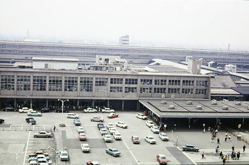 autos, bahnhof, Gleis, KFZ, Kyoto, Parkplatz, reise, Schienen, urlaub