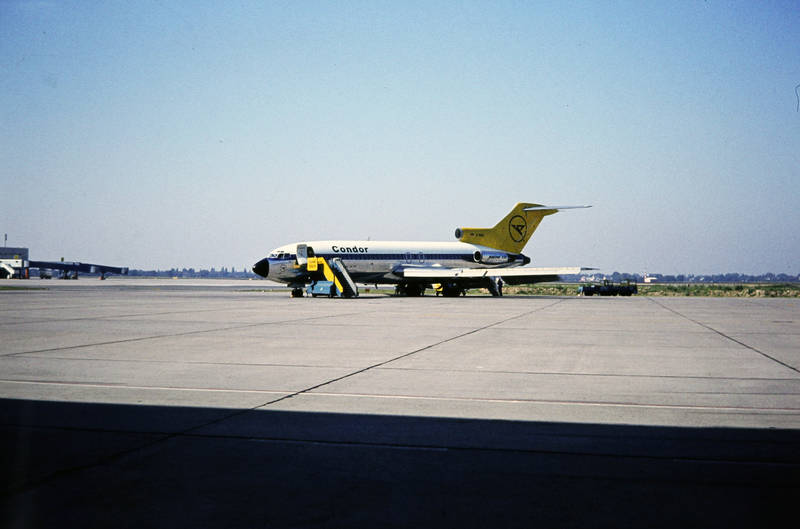 Boeing B727, Flughafen, Flugplatz, flugzeug, gangway, Treppe, Zugangstreppe