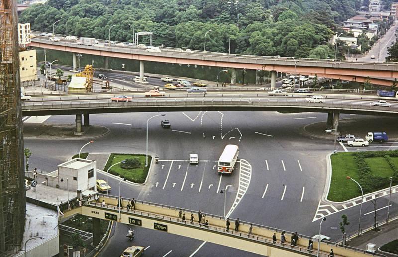 autobahn, brücke, haus, Kreuzung, Kyoto, straße