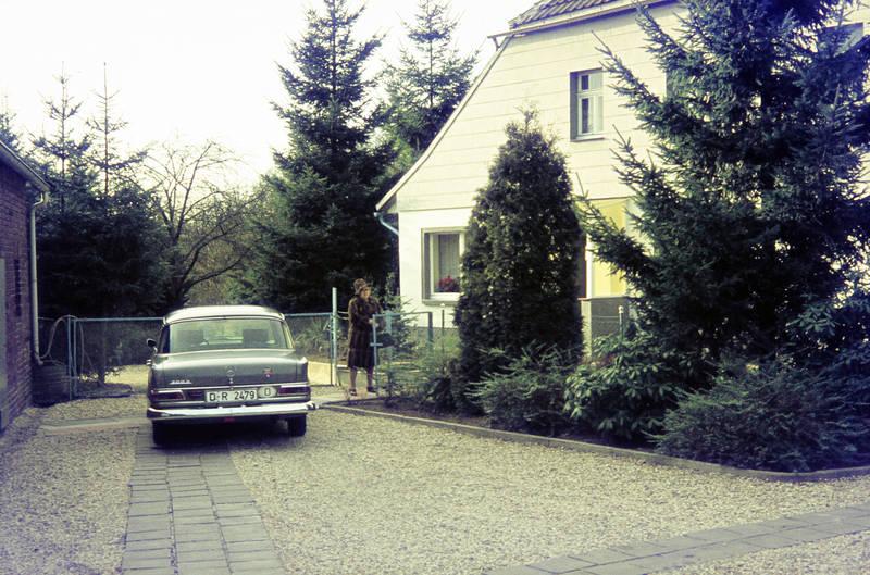 auto, KFZ, Mercedes-Benz, mercedes-heckflosse, PKW, tür, zaun, Zauntür