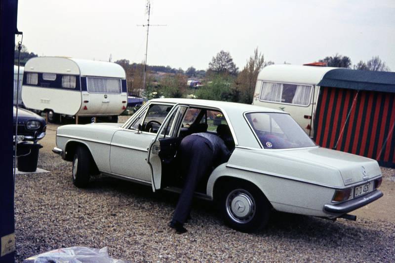 auto, Campingplatz, Campingwagen, KFZ, Kies, mercedes/8, PKW