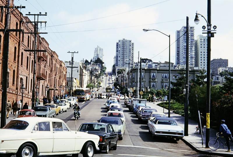 auto, bergauf, Großstadt, KFZ, PKW, San Francisco, steil, straße
