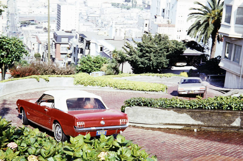 auto, ford, KFZ, Lombard Street, Mustang, PKW, Ponycar, San Francisco