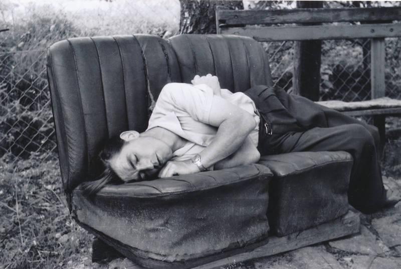 ausruhen, garten, Hinterhof, pause, schlafen, sofa
