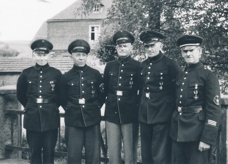 Bischofsdhron, Feuerwehr, hauptmann, hut, Uniform