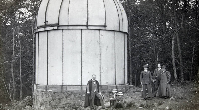 familie, kuppel, Observatorium, spaziergang, sternwarte