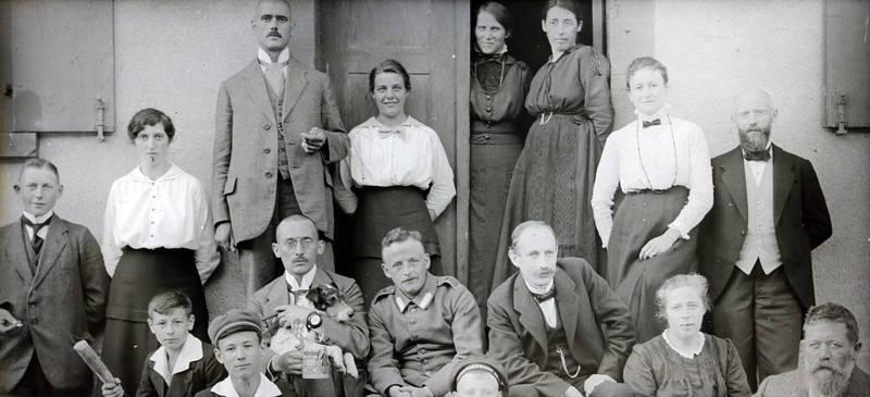 familie, Gruppenbild, Haustür, mode, tür, Uniform