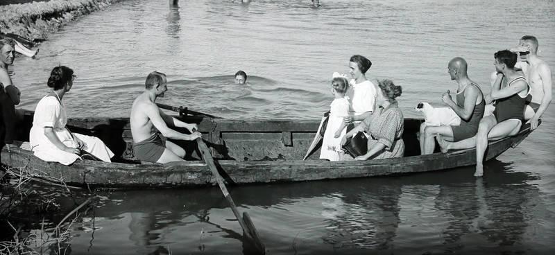 ausflug, badeanzug, bademode, baden, boot, Italien, Ruderboot, Schwimmen, Sommer, wasser