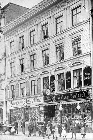 Bistrick, geschäft, Kalinigrad, Königsberg, mode, Passant, Preußen, schaufenster, uhr, Uhrenladen