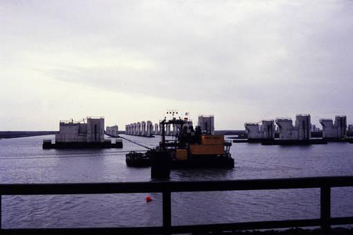 Bau der Deltawerke