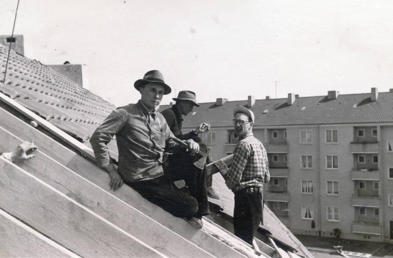 Arbeiter, Dach, handwerk, Handwerker, Werkzeug