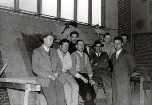 Gruppe von Dachdeckern