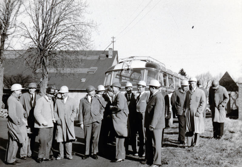 bus, Dach, Helm, katzenberg, schiefergrube