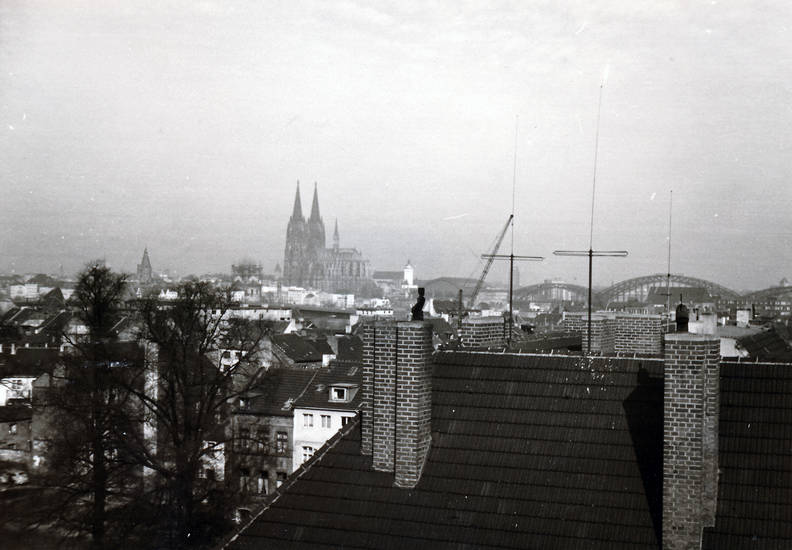 Antenne, Ausblick, Aussicht, Dach, hohenzollernbrücke, Kölner Dom, Schornstein