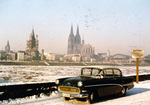 Treibeis auf dem Rhein in Köln