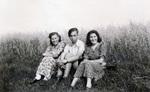Drei Personen im Gras