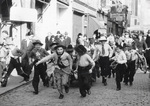 Menschenmenge an Karneval 1950