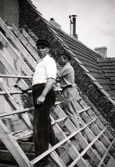 arbeit, aufbau, Dach, dach decken, Dachaufbau, handwerk, Humboldt-Gremberg