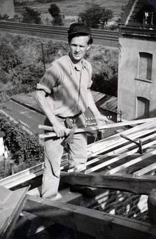 Bretter auf dem Dach