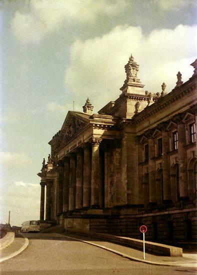 Reichstagsgebäude, straßenschild