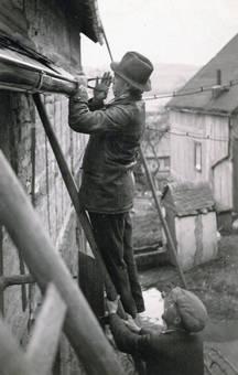 Anbringen einer Dachrinne
