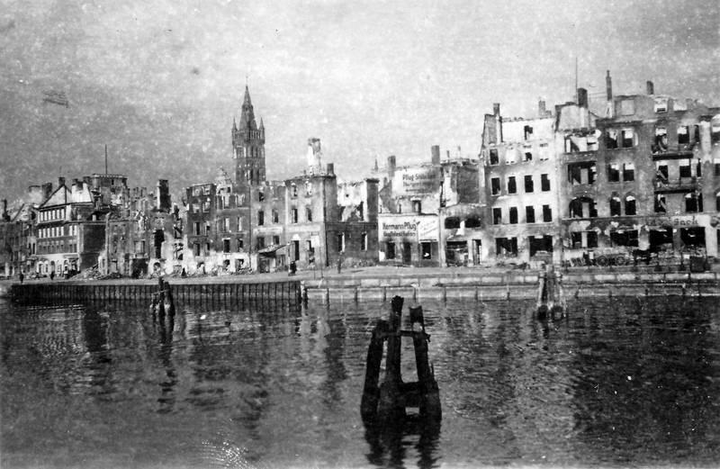 2.Weltkrieg, ausgebrannt, brand, Kaliningrad, Königsberg, Ostpreußen, ostpreussen, Pregel, Schlosskirche, Zerstörung
