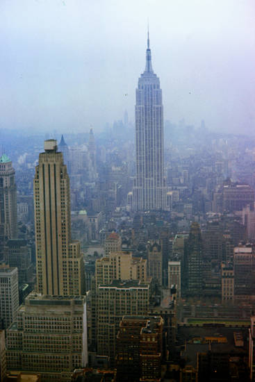 Betonmeer, Empire State Building, Hochhäuser, nebel, New York City, Rockefellercenter