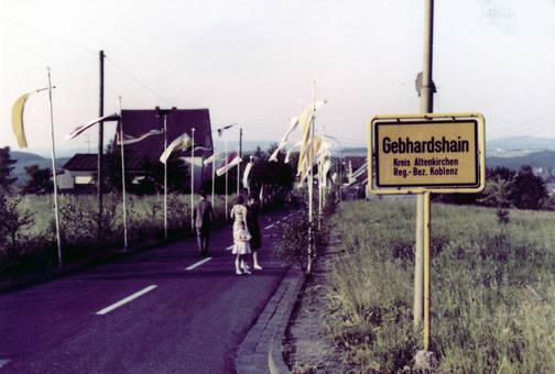 Ortsschild in Gebhardshain