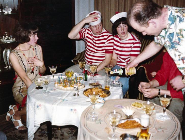 Bier, Feiern, Glas, kuchen, Sekt, tisch