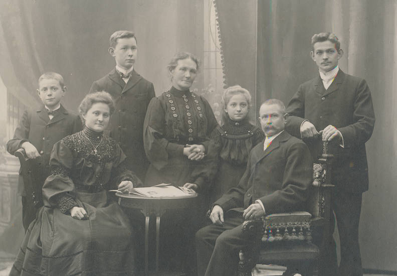 familie, Kindheit, mode, Schwarz