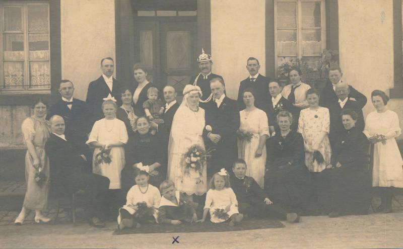 Brautstrauß, ehepaar, Hochzeit, Pickelhaube, Schleife