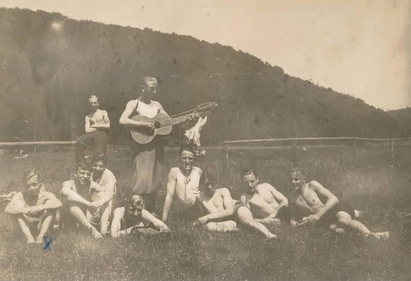 freundschaft, Gitarre, lachen, Sommer
