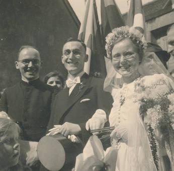 Stolzes Brautpaar