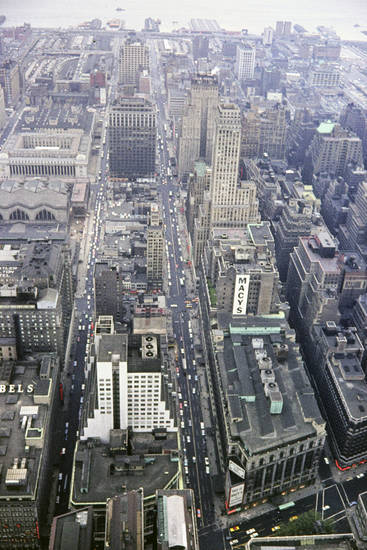 Ausblick, Aussicht, Empire State Building, Großstadt, Hochhaus, hudson river, macy's, Manhattan, Metropole, new york, New York City, straße, usa, Wolkenkratzer