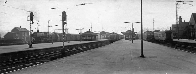 bahn, bahnhof, Eisenbahn, Fotomontage, Gleis, Panorama, Wuppertal
