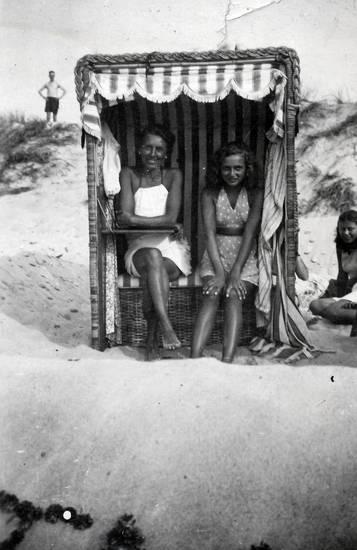 kleid, sand, Strandkorb, urlaub