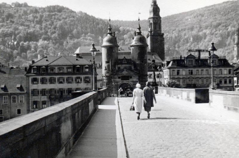 alte brücke, brücke, haus, Heidelberg, hut, Karl-Theodor-Brücke, Laterne, mantel, turm