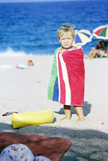badetuch, Kindheit, meer, sand, Sommerurlaub, Sonnenschirm, strand