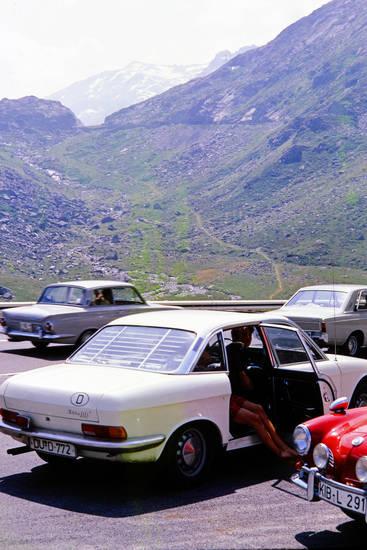 Alpen, auto, gipfel, Karmann-Ghia, KFZ, NSU Motorenwerke AG, PKW, ro 80, schnee
