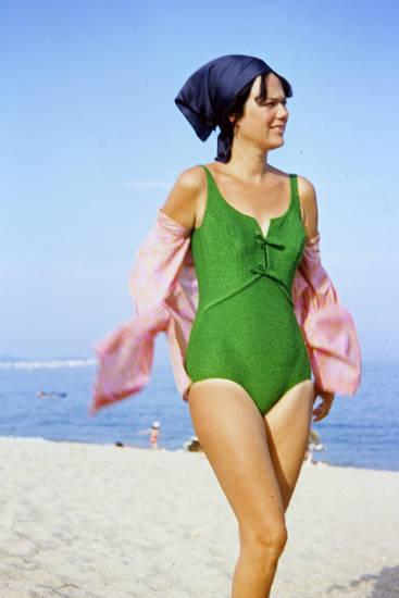 badeanzug, bademode, Kopftuch, mode, sand, strand, urlaub