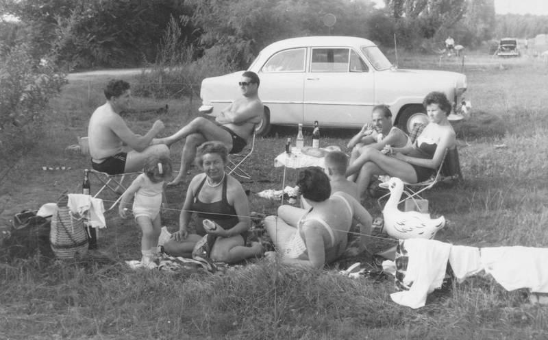 auto, bademode, campingstuhl, freizeit, KFZ, korb, Liegestuhl, picknick, PKW, Sommer, Tasche