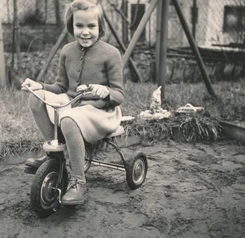 Fahrt mit dem Dreirad