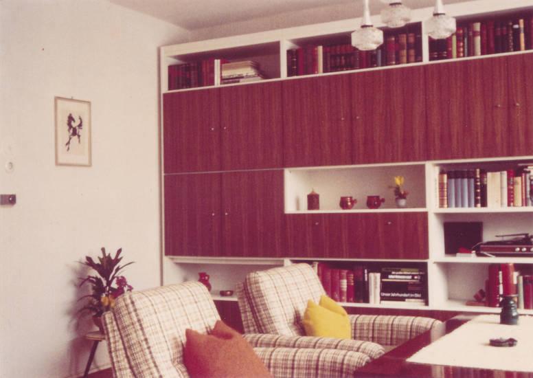 einrichtung, Möbel, Schrankwand, sessel, wohnzimmer