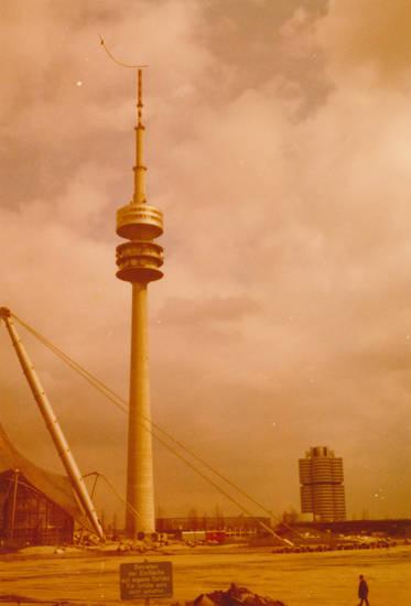 eisfläche, Fernsehturm, münchen, olympiasee, Olympiaturm