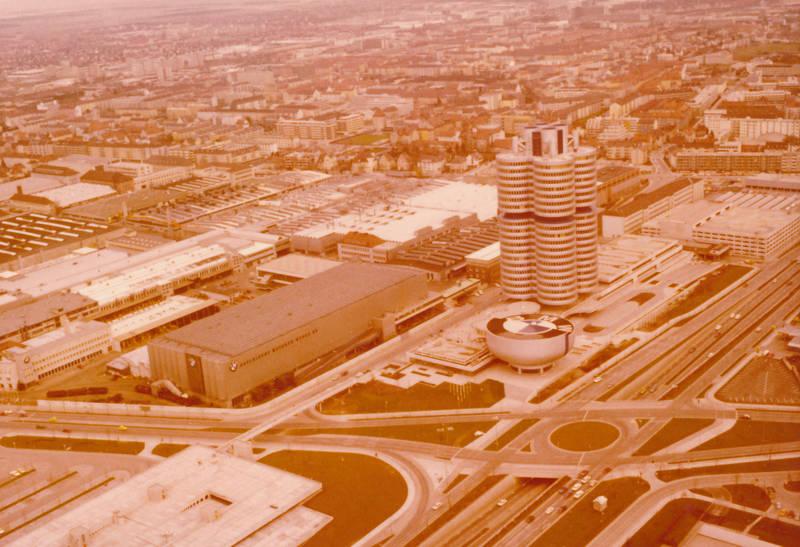 Aussicht, BMW, BMW-Vierzylinder, bmw-welt, gebäude, münchen, Olympiaturm